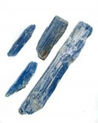 Kyanite is one of the few gem stones that does not hold negative energies and never needs clearing. You can clear other stones and crystals by placing them on a piece of kyanite. Kyanite aligns energy, such as human meridians and chakras and the ley lines within a room or on property. It projects a very positive life force energy into its surroundings, soothing in its ability to alleviate pollution and blockages at all levels of energy.  http://crystal-life.com/kyanite-wands