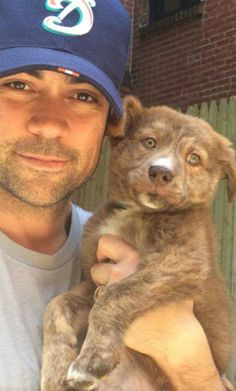 Danny and his puppy Prado.  From Danny's Twitter @TheDannyPino