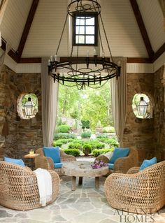 Perfectly sheltered from poor weather, this outdoor entertaining area is a wonderful continuation from house to outside