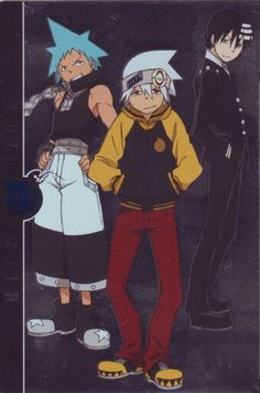 Soul Eater, Black Star and Death the Kid - Soul Eater Art Anime