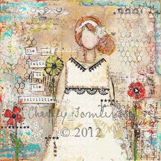 She had faith in the possiblities Mixed Media Canvas Print