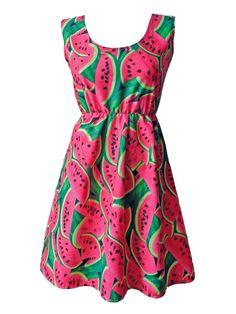 Pink & Black Watermelon Dress