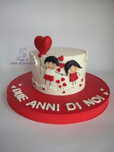 Love cake - Cake by mariana frascella - Biscuit com Carinho - Pastel de Tortilla Birthday Cake For Father, Funny Birthday Cakes, Cake Decorating With Fondant, Cake Decorating Videos, Valentines Day Cakes, Valentine Desserts, Aniversary Cakes, Doodle Cake, Cake Pops