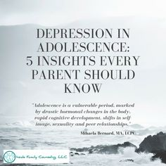 1) Adolescence is a vulnerable period in the life of young people, marked by drastic hormonal changes in the body, rapid cognitive development, shifts in self-image, sexuality and peer relationships. This is a time for questioning one's beliefs,...