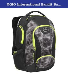 OGIO International Bandit Backpack, Synapse. Full featured pack with five external pockets for gear and accessories, dedicated fleece lined top loading laptop compartment fits most 17 inch laptops, front compartment with organizer panel, zip pocket and key clip, padded tablet pocket, hub (hybrid unibody back panel) for ultimate comfort, increased shoulder strap foam padding creates sweet spot comfort zone, adjustable ergonomic hybrid yoke style shoulder harness with adjustable sternum…