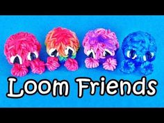 "How to Make Rainbow Loom ""Loom Friends"" charms with loom + bands. Rainbow Loom Charms Design / Tutorial / Instructions of ""Loom Friends"" or Fuzzies. Thanks for watching! Subscribe to my channel…"