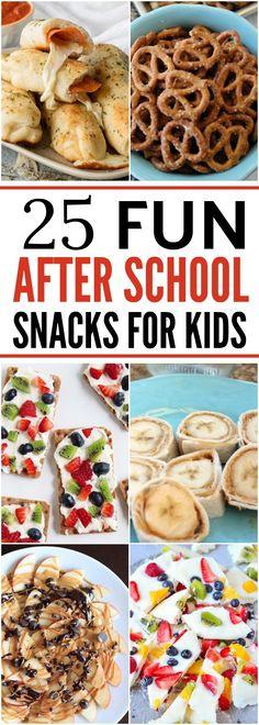 25 After School Snacks for Kids School Snacks For Kids, Healthy School Snacks, Healthy Afternoon Snacks, Snacks For Work, Healthy Snacks For Kids, Healthy Foods To Eat, Healthy Treats, School Snacks For Kindergarten, Healthy Classroom Snacks