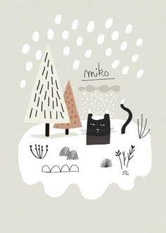 【楽天市場】MATHILDE AUBIER | MIKO NEIGE | A3 アートプリント/ポスター:北欧雑貨と音楽 HAFEN ハーフェン