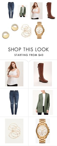 """""""Untitled #310"""" by bleachbrains on Polyvore featuring Torrid, Caslon, Karen Scott, Michael Kors, Bloomingdale's and plus size clothing"""
