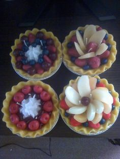 Hand poured assorted candle pies.