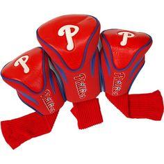 Team Golf Philadelphia Phillies Contoured Headcovers - 3-Pack, Green