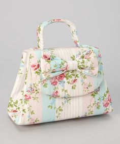 Love this Pink Floral Bow Purse on #zulily! #zulilyfinds
