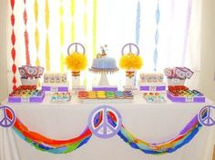 Hippie theme? Peace & Love Birthday Party