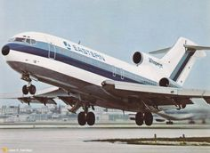 Eastern [Air Lines, Boeing] 727 Awesomeness! -- Jose R. Boeing Aircraft, Passenger Aircraft, Boeing 727 200, Airplane Photography, Civil Aviation, Aviation Art, Jet Engine, Commercial Aircraft, Model Train Layouts