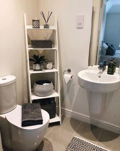 The post 28 Impressive Bathroom Storage Ideas Smart Solution Big Impact! appeared first on Badezimmer ideen. Small Bathroom Storage, Bathroom Organisation, Small Storage, Organization Ideas, Bathroom Ladder Shelf, Bathroom Standing Shelf, Bathroom Storage Solutions, Toilet Storage, Bath Storage