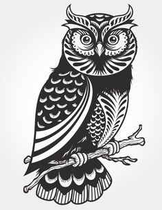 Free Paper Cutting Patterns | Free Vector VIP > Pattern vector > Vector Case > Owl paper-cut vector
