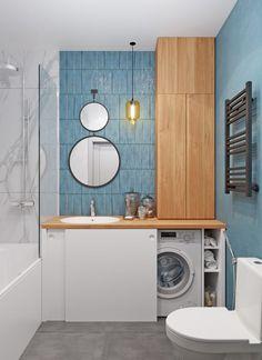 Laundry Room Bathroom, Laundry Room Design, Bathroom Design Small, Bathroom Interior Design, Home Room Design, House Design, Small Apartment Design, Apartment Interior, Small Apartments