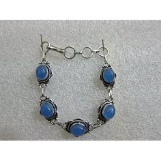 Charm Handmade Oxidized Silver Finished Chalcedony Bracelet (Jewelry)  http://www.foxy-fashion.com/Johns-Amazon.php?p=B0083F41YA