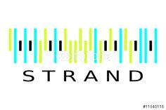 """Laden Sie den lizenzfreien Vektor """"Barcode Strand""""  herunter. Stöbern Sie in unserer Bilddatenbank https://de.fotolia.com/partner/200576682 und finden Sie schnell das perfekte Stockbild."""