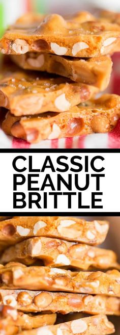 This classic, old-fashioned peanut brittle is one of my favorite candy recipes I've snagged from my grandma. Sweet and salty, with a satisfying and irresistible crunch, this buttery peanut brittle recipe will a homemade must-have for years to come. Homemade Peanut Brittle, Peanut Brittle Recipe, Brittle Recipes, Candy Recipes, Sweet Recipes, Holiday Recipes, Christmas Recipes, Holiday Baking, Christmas Baking
