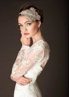 Anna Campbell for Babushka Ballerina long sleeves lace wedding dress beautiful