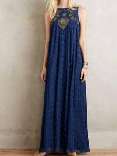 at anthropologie Catalin Maxi Dress Beautiful Maxi Dresses, Nice Dresses, Summer Dresses, 1950s Dresses, Party Dresses, Vintage Dresses, Short Dresses, Boho Fashion, Fashion Dresses