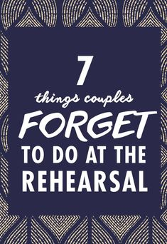 The Rehearsal Dinner Is Kickoff To Your Wedding Weekend So You Want Things Start Off Smoothly And Stress Free There Are Also A Few Important Items