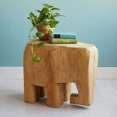Diy Home Decor Rustic, Quirky Home Decor, Handmade Home Decor, Home Decor Accessories, Decorative Accessories, Deco Elephant, Wooden Elephant, Elephant Gifts, Design Your Own Home