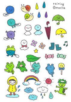 Flower Doodles, Cute Doodles, Doodle Flowers, Doodle Drawings, Doodle Art, Cute Small Drawings, Ballpoint Pen Art, Welcome Card, Fun Illustration