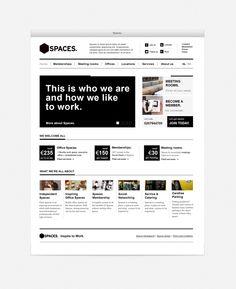 Spaces Brand & Website Re-Design by Gertjan Melgers, via Behance