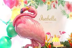 Mylar Flamingo Balloon from a Tropical Hawaiian Flamingo Party via Kara's Party Ideas | KarasPartyIdeas.com (6)