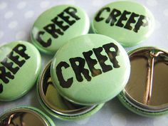 Halloween Party Favors - Creepy Creep Buttons - 1 Inch Small Pinback (Set of 10) #Halloween #party #favors