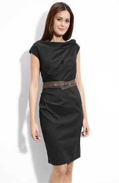 Suzi Chin for Maggy Boutique Twist Neck Belted Sheath Dress, $128 at Nordstrom. Love this. Would probably get it in the black (shown) to be safe for the office, but it's great in the teal, too.