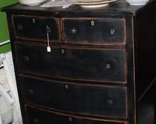 distressed painted furniture - coffee table. I like this look.