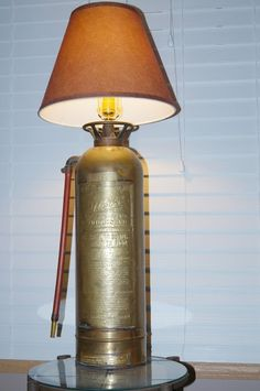 Firefighter Lamp. Ben would love this in his man cave and has actually made a few