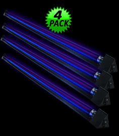 ML94744-4PK - 4 Pack - 48 inch Triangular Blacklight Fixtures and Tubes