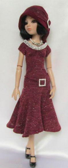 OOAK Lady Ambers Autumn Elegance, Knit Dress, Cardigan, Felt Hat & Necklace, by ssdesigns via eBay ends 8/25/13