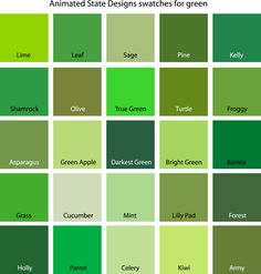 Color Swatches for Cyan, Yellow, Yellow-Green and Green Nail Art nail art etsy Green Paint Colors, Paint Color Schemes, Green Colour Palette, Colours, Palette Verte, Lime Green Paints, Cyan, Different Shades Of Green, Color Swatches