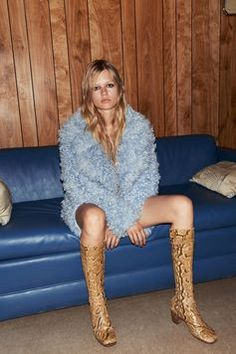 Anna Ewers for Vogue #backtofall #shaggyfur