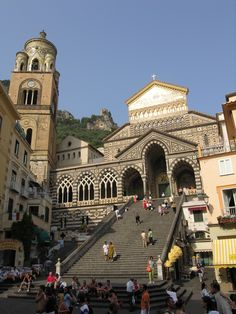 Amalfi Piazza del Duomo - met here and then did an amazing hike through the terraces above.