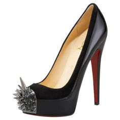 Shopping Cheap Christian Louboutin Outlet Women Asteroid Spike Toe Pumps Black.