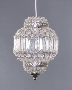 Classic Morrocan Lantern Style CHROME Clear Acrylic Ceiling Light Shade  Easy Fit Pendant: Amazon.