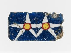 Mosaic glass inlay  Period: Hellenistic Date: 1st century B.C.–1st century A.D. Culture: Egyptian, Roman Medium: Glass Dimensions: Other: 1 9/16 in. (3.9 cm) Classification: Glass