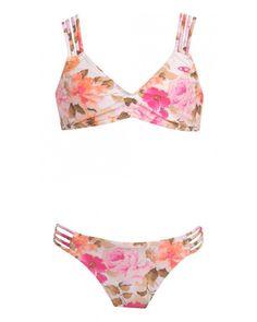 O'Neill Girls Lala Multi Strap Bikini Two Piece Set