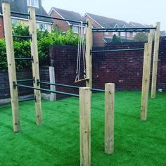 """Looks so awesome with AstroTurf. Thanks to @nickytruter for sending in. #crossfit #fit #fitbody #outdoorfitness #pullups #parallelbars #kidsgym #training"""