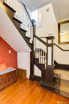 stairs---ours would be like this if we opened them up. 1916 Everett house