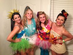 Four Seasons group Halloween costume.