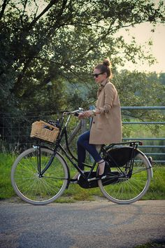 wondering if I own a trenchcoat. I've been looking for something to wear when I ride my bike in heels