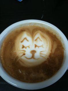 Latte - Art  Katze  Powered by www.CorlitoCaffe.de  Barista: Angelo Corlito