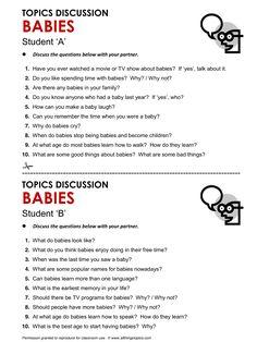 Babies, Baby, English, Learning English, Vocabulary, ESL, English Phrases, http://www.allthingstopics.com/babies.html